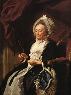 Portrait of Mrs. Seymour Fort, 1778 by John Singleton Copley (American, 1738-1815) tatting?