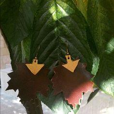 Handmade leather earing