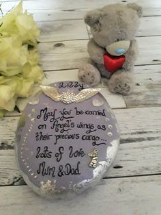 Infant loss remembrance stone for inside.  Memorial gifts for infant loss, memorial ornament with memorial verse.   Click here for more choice. #infantloss #memorialgifts #memories #remembrance #memorialornamnet #memorialquotes