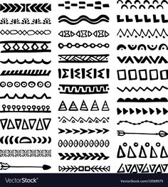 Pattern Collection Borders in Aztec Dividers Boho Separators Peru Mayan Wall Art Hanging Tapestry inch Hanging Tapestry, Hanging Wall Art, Wall Hangings, Hand Drawn Border, Aztec Art, Painted Sticks, Zentangle Patterns, Ethnic Fashion, Mandala Design