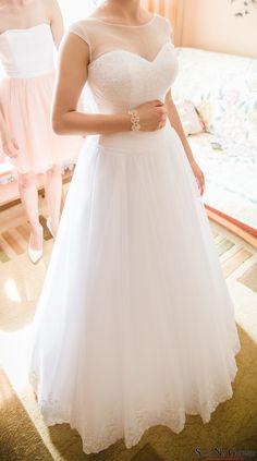 Śnieżnobiała suknia ślubna + DODATKI