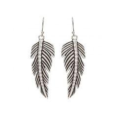 ER2090R47 Tattoo Art Rhinestone Feather Earrings