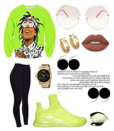 """""""Kylie Puma Contest"""" by cackylicious ❤ liked on Polyvore featuring Puma, Chloé, Melrose & Market and Lime Crime"""