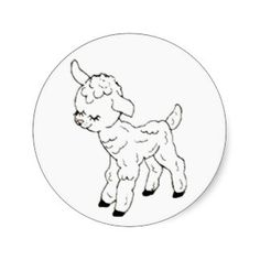 Black and white sheep with flowers post cards elegant easter gifts little lamb sticker negle Image collections