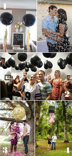 Alt Text: Awesome Gender Reveal Ideas: Use Confetti!