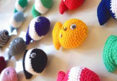15 Crochet Fish Crocheted Fish Fish Candy Fish by LilyRazz on Etsy