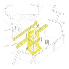 El Bicho Amarillo,Axonométrica
