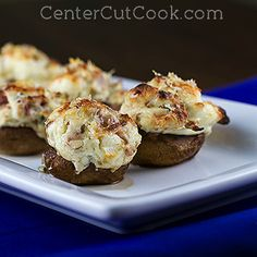 (turkey) bacon and cheese stuffed mushrooms. South Beach Diet phase 1 meal