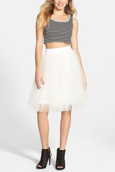 How fun is this embellished two-piece ballerina dress?