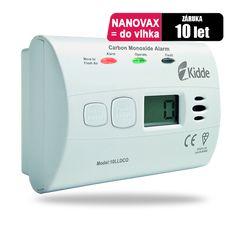 Detektor oxidu uhelnatého, měřící zařízení Kidde 10LLDCO - odolný proti vlhkosti s de-ionizovaným vodním elektrolytem, který provádí testování každou vteřinu na smrtelné nebezpečí v podobě oxidu uhelnatého. Detektor CO Kidde 10LLDCO průběžně monitoruje přítomnost jedovatého oxidu uhelnatého v domácnosti a poskytuje ochranu před jeho účinky. Kromě dvojité červené a zelené LED kontrolky má detektor 10LLDCO digitální displej.průmyslovým senzorem s životností 10 let. Vydrží tedy o 40% déle