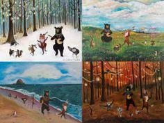 I love Jahna Vashti's art cards - they are wonderfully whimsical and beautiful!  https://www.etsy.com/shop/JahnaVashti?section_id=12768462&ref=shopsection_leftnav_4