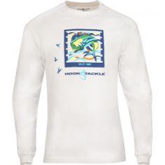 Men's Bull Dolphin Tag L/S UV Fishing T-Shirt