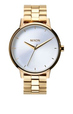 New Nixon Womens Kensington Watch Gold White A099 508 #Nixon