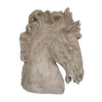 Horses Head - Roman Stone Finish Gothic Garden, Head Statue, Roman Fashion, Animal Statues, Horse Head, French Decor, Roman Empire, Sculpting, Lion Sculpture