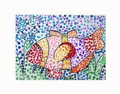 Pointillism Fish - George Seurat Inspired