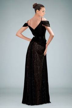 Gorgeous A-line Evening Gown with Sequined Lace Overlay and Delicate Pleats