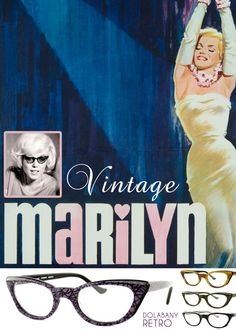 A notable wearer of cat-eye glasses is Marilyn Monroe. Some say she was the cat-eye making this frame as popular as they were in the 50's. Now, cat-eyes are back with a vengeance. From sunglasses to eyeglasses, it's pretty much everywhere. The modern (i.e. retro) cat-eyes though similar in style feature a more 'softer' shape with a lower brow than the vintage design. Check out this retro interpretation below: Dolabany Granite.