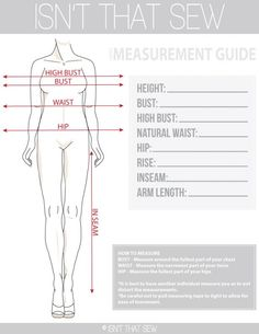 How to take accurate body measurements for pattern drafting Sewing Basics, Sewing Hacks, Sewing Tutorials, Sewing Patterns, Sewing Tips, Techniques Couture, Sewing Techniques, Pattern Cutting, Pattern Making