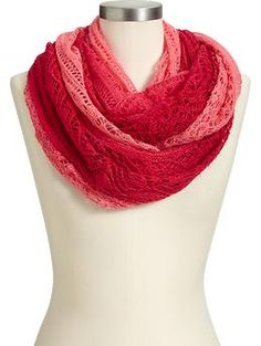 Women's Pointelle Infinity Scarves | Old Navy
