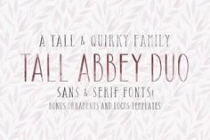Tall Abbey Bundle | Logos + Elements by Tom Chalky on @creativemarket