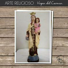 En el Taller de Marta queremos que vivas con mucha fe esta bella advocación de la  Virgen del Carmen. Contáctenos al 310 837 0969 y realiza tu pedido.