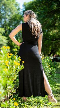 Long Jersey Dress – fashionnavela Maxi Cardigan, Black Fabric, Stay Warm, Autumn, Winter, Collection, Color, Dresses, Fashion