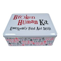The Bright Side Tin - Broken Human Kit (Emergency First Aid Stuff) New Stock: Amazon.co.uk: Health & Personal Care