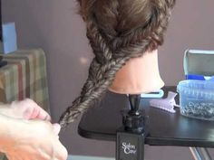 So easy to make this elegant hairstyle with fishtail braids.
