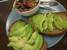 Avocado on toast and a side of Salad, it doesn't get any better than this!!