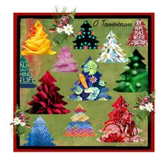 O Tannenbaum by rescuedofferings on Polyvore featuring art, vintage, integrityTT and EtsySpecialT