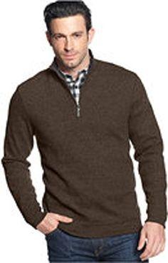 Tasso Elba Men's 4XLT Brown Polo Sweater - http://www.darrenblogs.com/2017/01/tasso-elba-mens-4xlt-brown-polo-sweater/