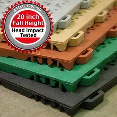 Rubber StayLock Perforated Deck Tile, Outdoor Deck Flooring, Playground Flooring, Non Slip Flooring, Backyard Playground, Outdoor Flooring, Rubber Flooring, Patio Tiles, Outdoor Tiles, Deck Tile