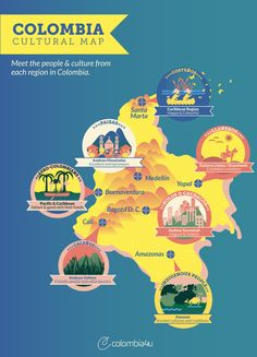 Infographic: Cultural map of Colombia - Meet the people & cultures of Colombia   Colombia4u