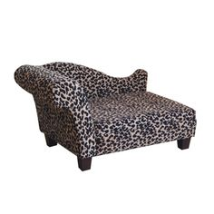 Luxury Pet Bed Leopard Chenille (haha, for the princess)