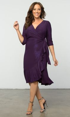 Check out the deal on Whimsy Wrap Dress at Kiyonna Clothing