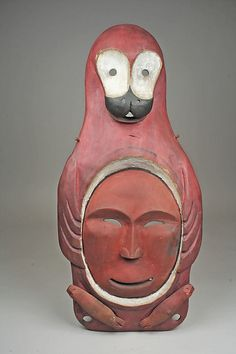 Yup'ik Seal Mask late century Alaska Wood, pigment Collected in late century by Bishop Farhout, MacKenzie River area Arte Inuit, Inuit Art, African Masks, African Art, Native Art, Native American Art, Statues, Bokashi, Art Premier