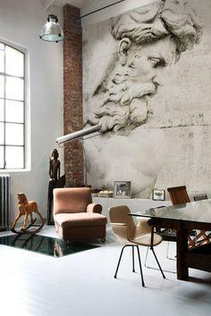 décoration avec du papier peint trompe l'oeil par Wall&deco