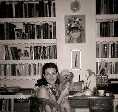 My mom was an amazing reader and let me read beyond my years... the books that informed me are on those shelves.