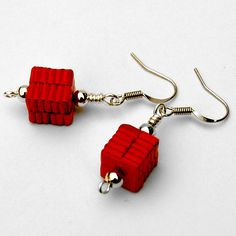 Paper bead earrings again :D - JEWELRY AND TRINKETS