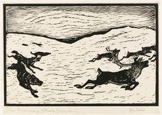 Mer om John Savio, Ulv og rein I Reindeer, Moose Art, My Arts, Animation, Watercolor, Drawings, Illustration, Crafts, Animals