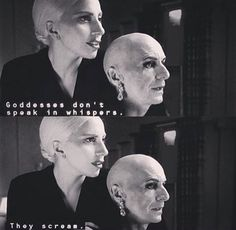 The Countess and Liz Taylor. American Horror Story Hotel Season 5 Episode 5