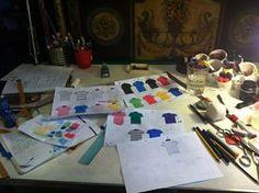 Diseños THE FROG & Co. sobre el papel.
