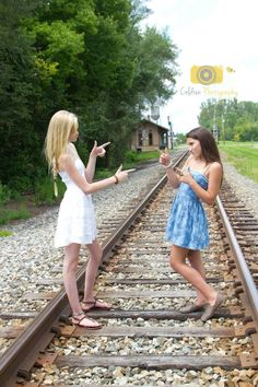 I'd probably get hit by a train in the process :) Best Friend Pictures, Bff Pictures, Bff Pics, Grad Pics, Family Pictures, Best Friends For Life, Cute Friends, Besties, Bestfriends