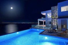 6 bedroom villa for sale in Crete, Iraklion, Palekastro - Rightmove. Industrial Home Design, Industrial House, Riverside Apartment, Amazing Spaces, Beach Condo, Beautiful Dream, Pool Designs, Luxury Villa, Vacation Spots