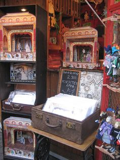 Paper Theatre stall at the Christmas market in Budapest