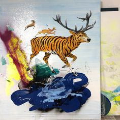 GMO Tiger Deer available as Fine art print 70x50 cm contact Frederik Hesseldahl at dirtyclean@gmail.com