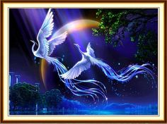 DIY 5D Diamond Painting by Number Kits,Pollyhb Full Drill Crystal Rhinestone Diamond Embroidery Paintings Pictures Arts Craft for Home Wall Decor,Panda Dragon Eagle Fire Horse