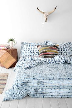 4040 Locust Dyed-Stripe Duvet Cover