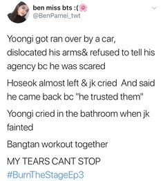 There was also the time that jungkook was gonna quit BTS and become a dancer, but Namjoon stopped him from doing so