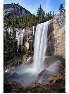 Poster Print Wall Art Print entitled Vernal Falls, California, None